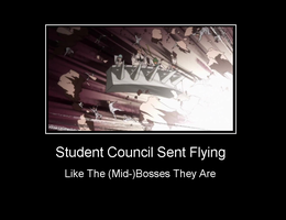 Student Council Sent Flying by Andarion