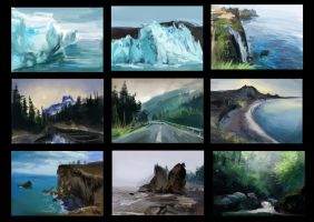Landscape Thumbnail Photostudies. by Scoutrageous