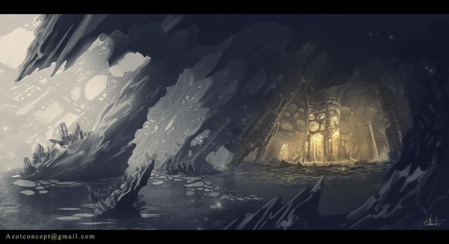 Ice Cave sketch by Azot2017