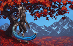 The Autumn Sea by Shadow-Wolf