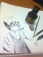 Houtarou Oreki by shrutisuresh