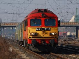 M41-2118 with passenger train by Seth890603