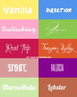 fonts pack by Ricchi-com