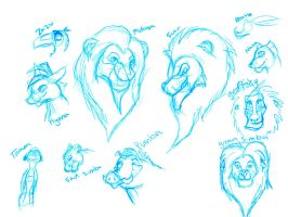 Lion King Sketches by ForTheLoveOfWalrus