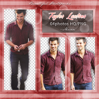 Photopack Png 002: Taylor Lautner by Manuuselena