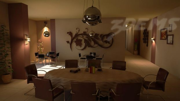 Restaurant Outisde area by aXel-Redfield