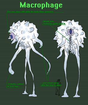 Virus Anthology Macrophage Concept by Swingerzetta
