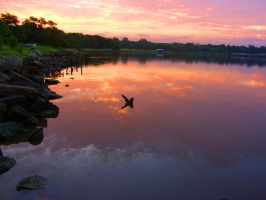 dawn in the water by CorazondeDios