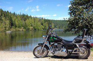 My bike at the Pass lake by ShannonCPhotography