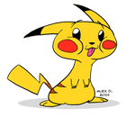 Pikachu + video link by Doodley