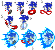 Different Styles of Sonic Running by EricTheWhitelion