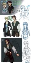 AaG - Fictional Adventure Sketchdump by Crista-Galli