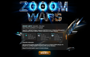ZOOOM WARS Landing Page by Fedrick
