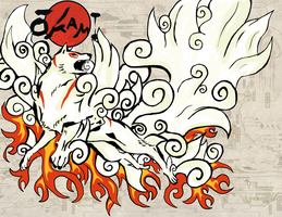 Okami Contest 2008: Amaterasu by MWhetherly
