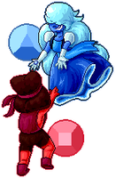 Sapphire and Ruby Pixel Redraw by DaniGhost