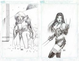 Ghost and X-23 Commissions by edtadeo