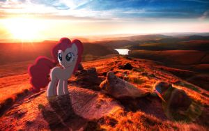 Pinkie Pie Somewhere In England by MrKupKake