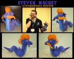Steven Magnet Plush with interchangeable Moustache by iSaunter