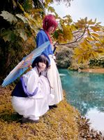 Kenshin and Tomoe Cosplay by MaryMagika