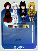RWBY Journal Skin by NeonStryker