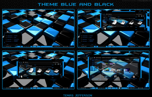 new theme para windows 7 Blue and Black by temasjefferson