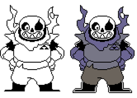 [SWAPFELL] Sans Battle sprites by RockmanThetis