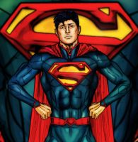 superman new 52 (drawing practice) by qins