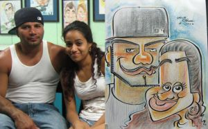caricature- girl2 and dad 08 by chrisCHUA