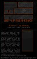 Art Is Resistance Journal CSS by DementdPrncess