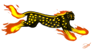 Fiery cheetah 'adopt closed' by Domisea