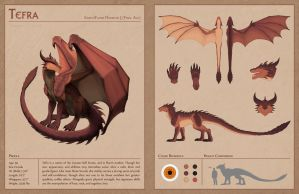 Ref Sheet - Tefra by Drak-Arts