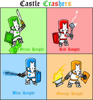 Castle Crashers Knights by Linkgcn64