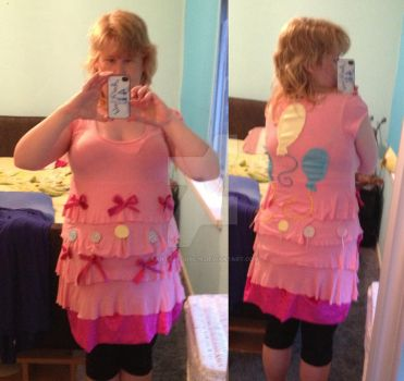 me wearing my pinkie pie cosplay by Fantasy-Girl19