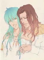 Mink and Aoba WIP by suzanna8767