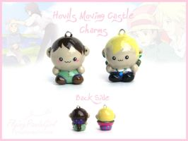 Howl's Moving Castle Charms by FlyingPandaGirl