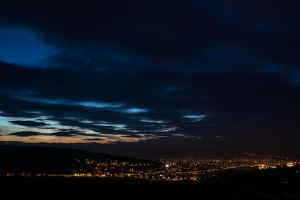Sunset over Manastur by Reiep