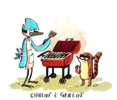 Chillin' and Grillin' by Alyssizzle-Smithness
