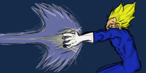 Vegeta fina flash by JustATry2552