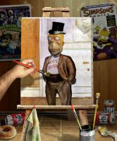 Munch Simpson Painting by funkwood
