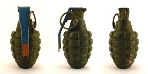 Grenade, Mk2, three-view by FirearmsandDevices