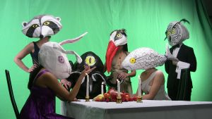 Animal Mask Dinner Party by LaunaEddy