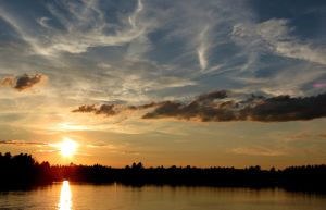 Wispy Evening Sunset by Michies-Photographyy