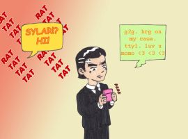 Sylar texting by starrdust411