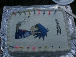 Gorillaz cake by 2D-or-not-2D
