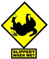Slippery When Wet - Funny by LimeGreenSquid