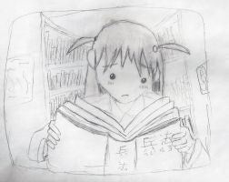 Tenma trying to read by xogirlxo78