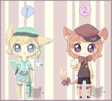 Cutesy Kemonomimi Adopts! (Closed) by LizardBat