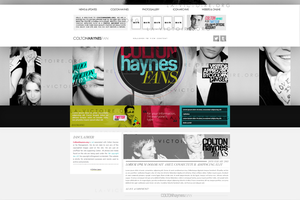 Colton Haynes Wordpress Theme by R21Art