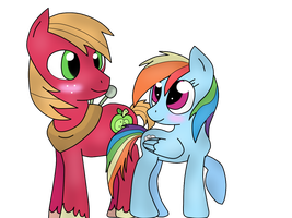 Big Macintosh X Rainbow Dash by CandyUtame