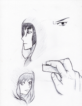 Pen Doodles for the Day =A= by UmedaIsao